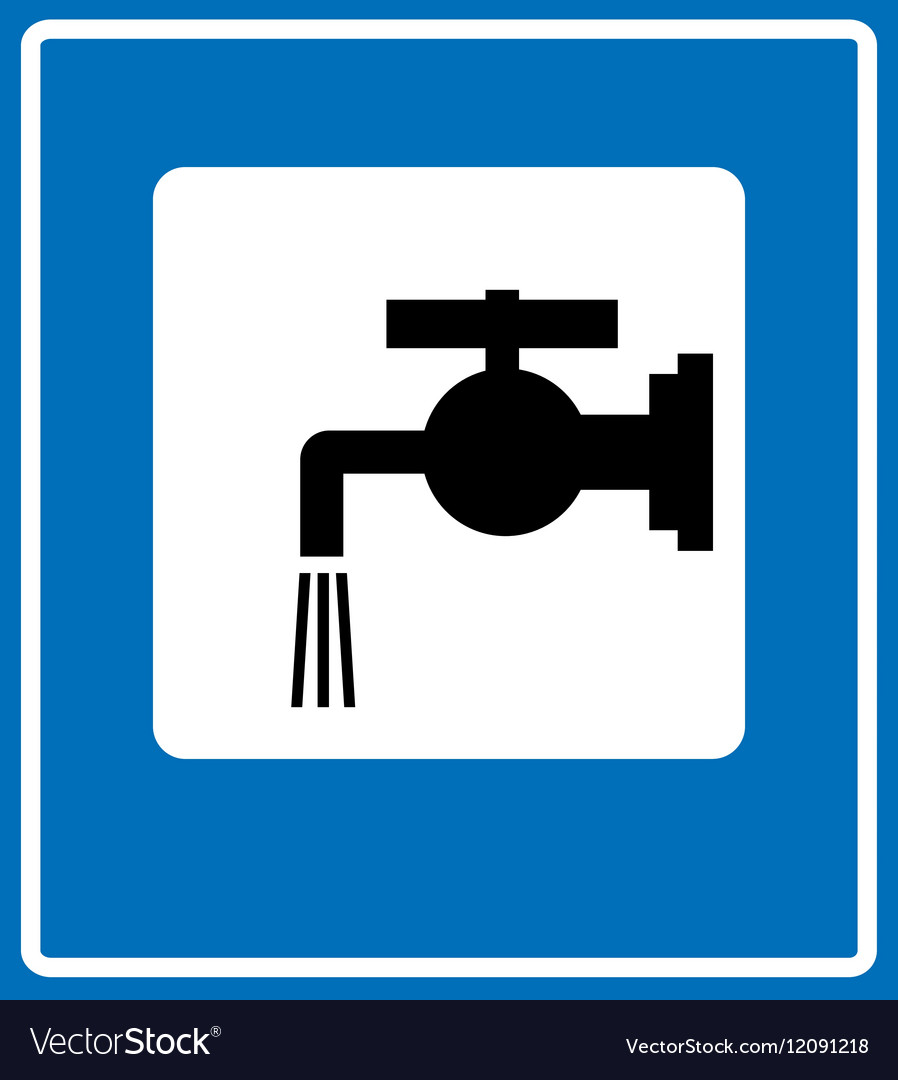 Water tap sign vector image