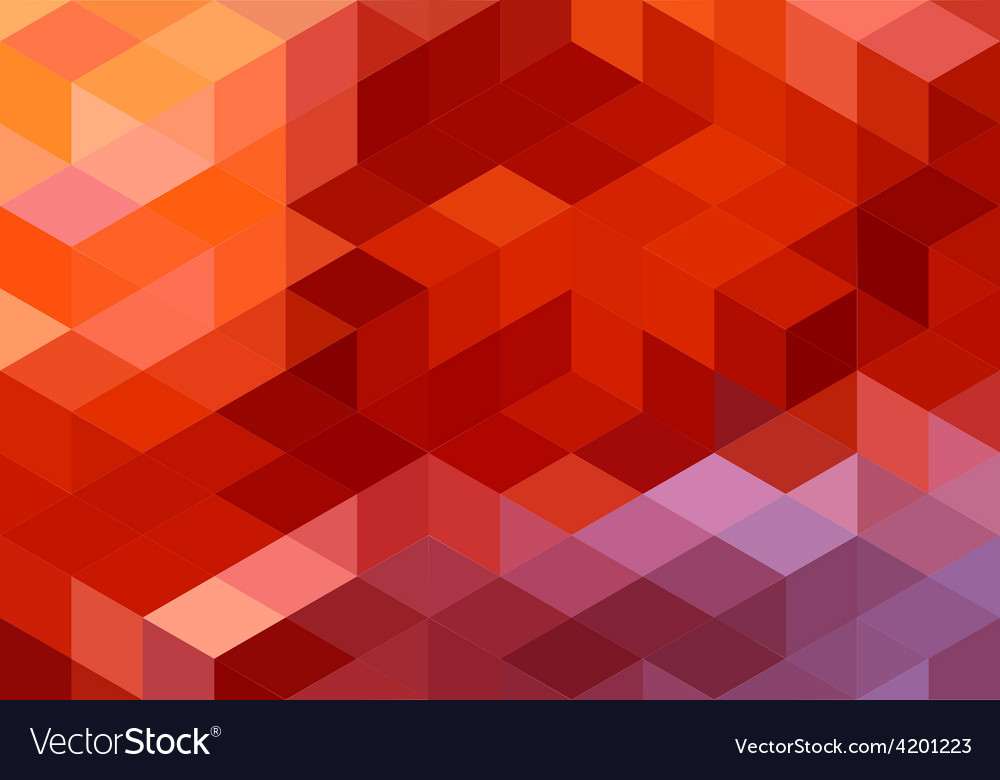 Abstract red geometric background cube pattern
