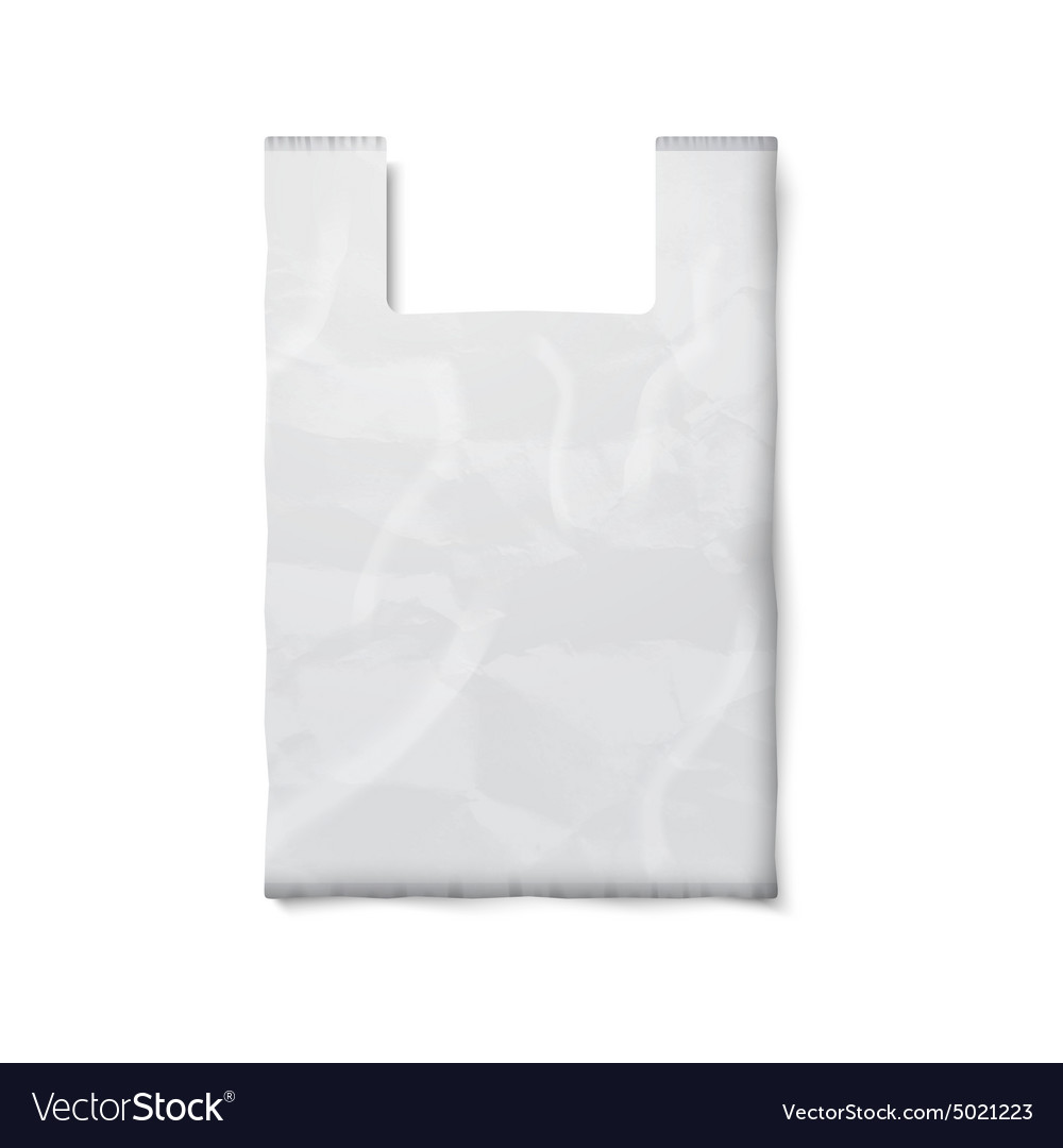 Blank plastic bag with place for your design and vector image