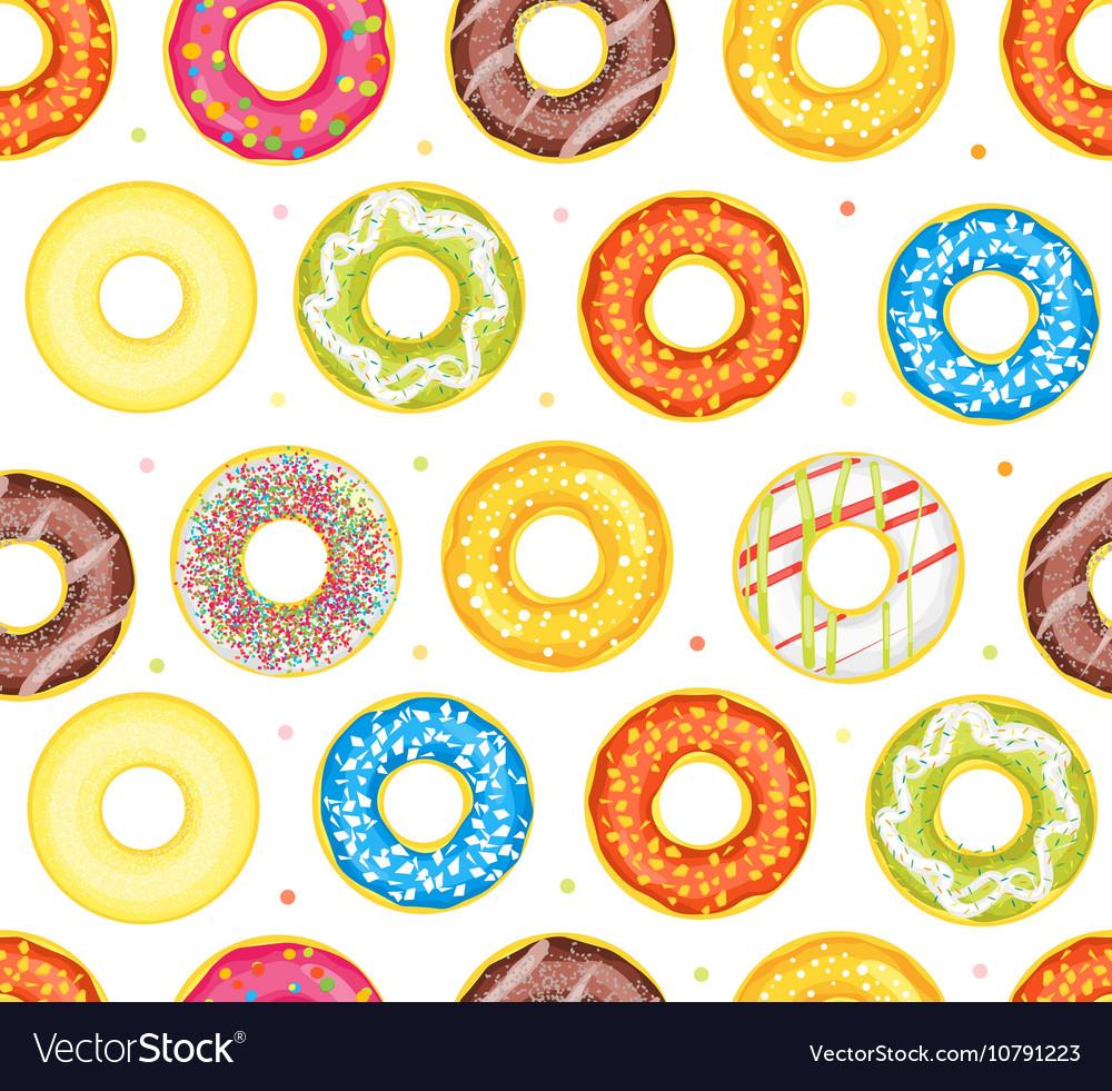 Donut Set Background Pattern