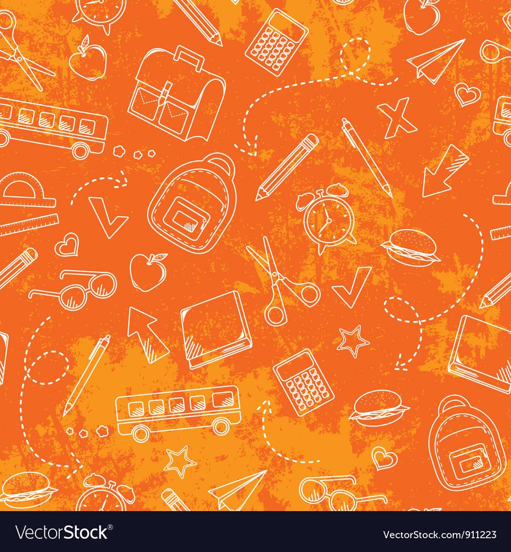 Grungy school pattern