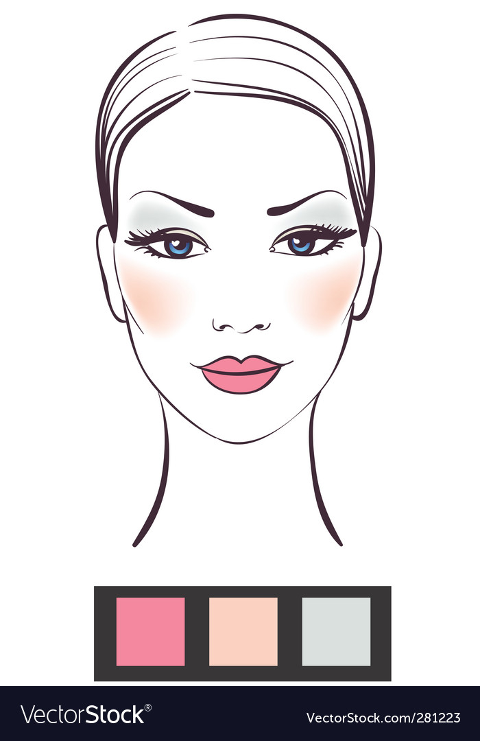 makeup template royalty free vector image vectorstock
