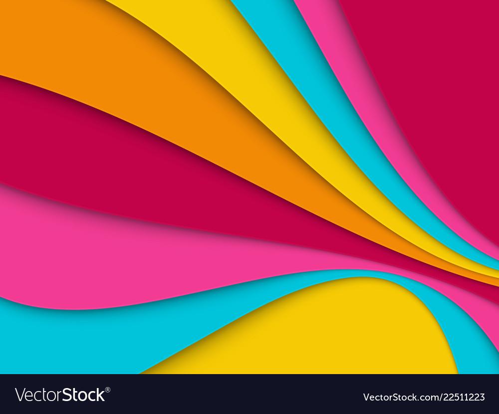 Paper cut wavy geometric background