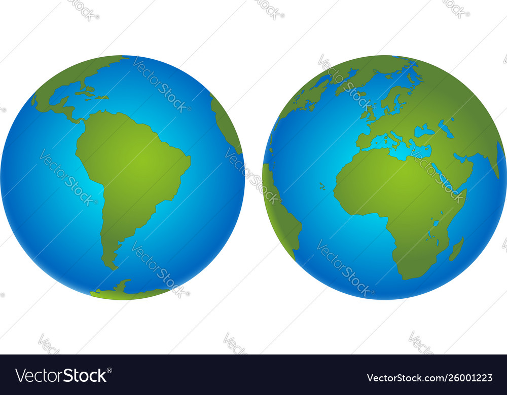 Planet earth icon flat planet earth icon