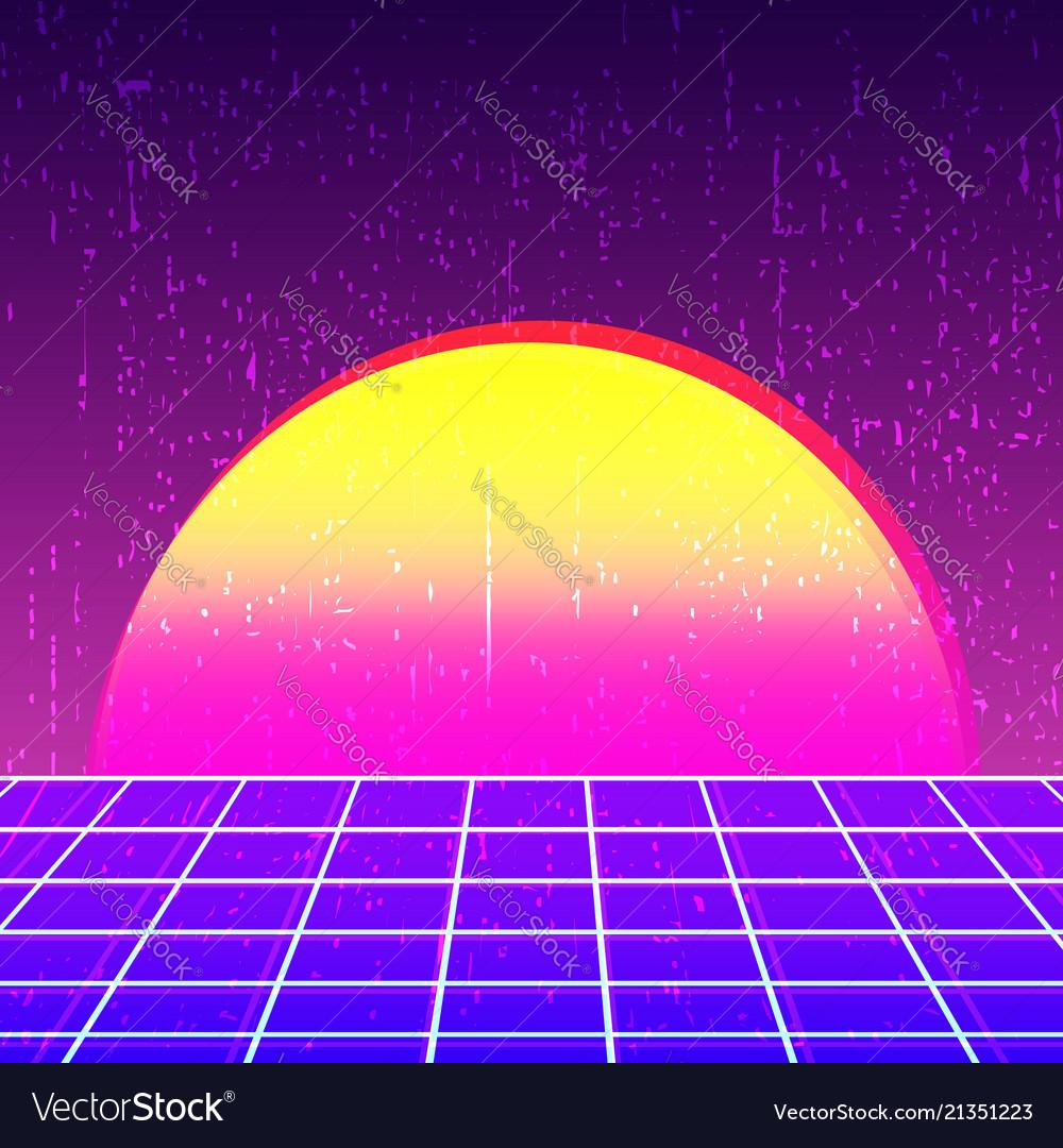 Retro Background 80s Design Royalty Free Vector Image
