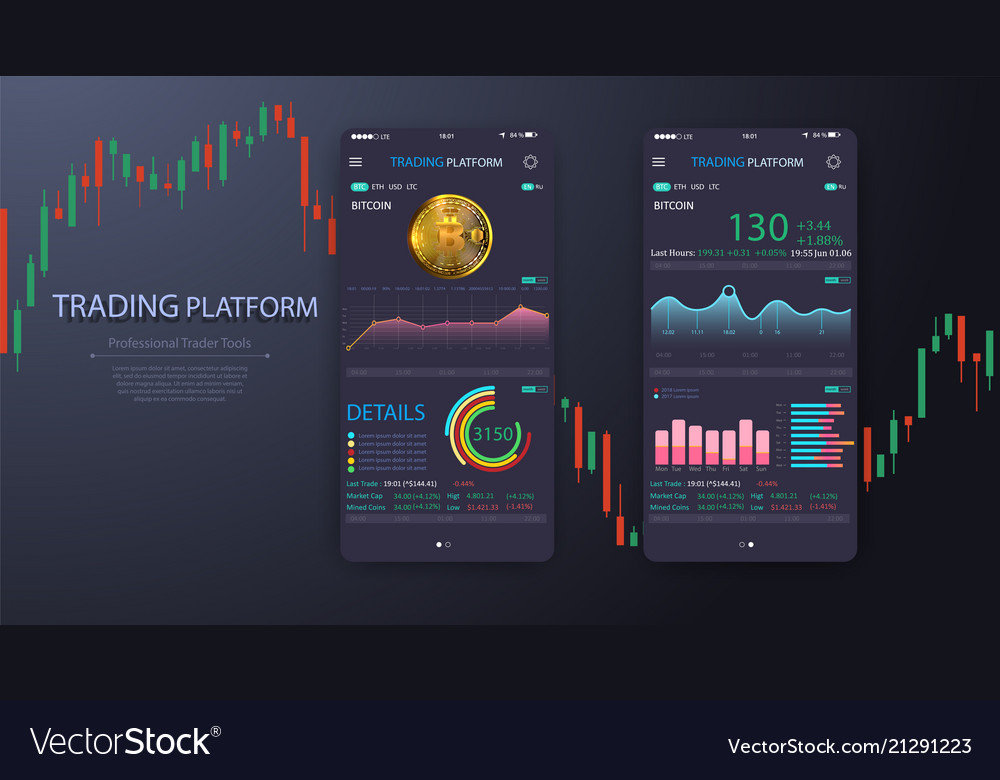 Trade exchange app on phone screen