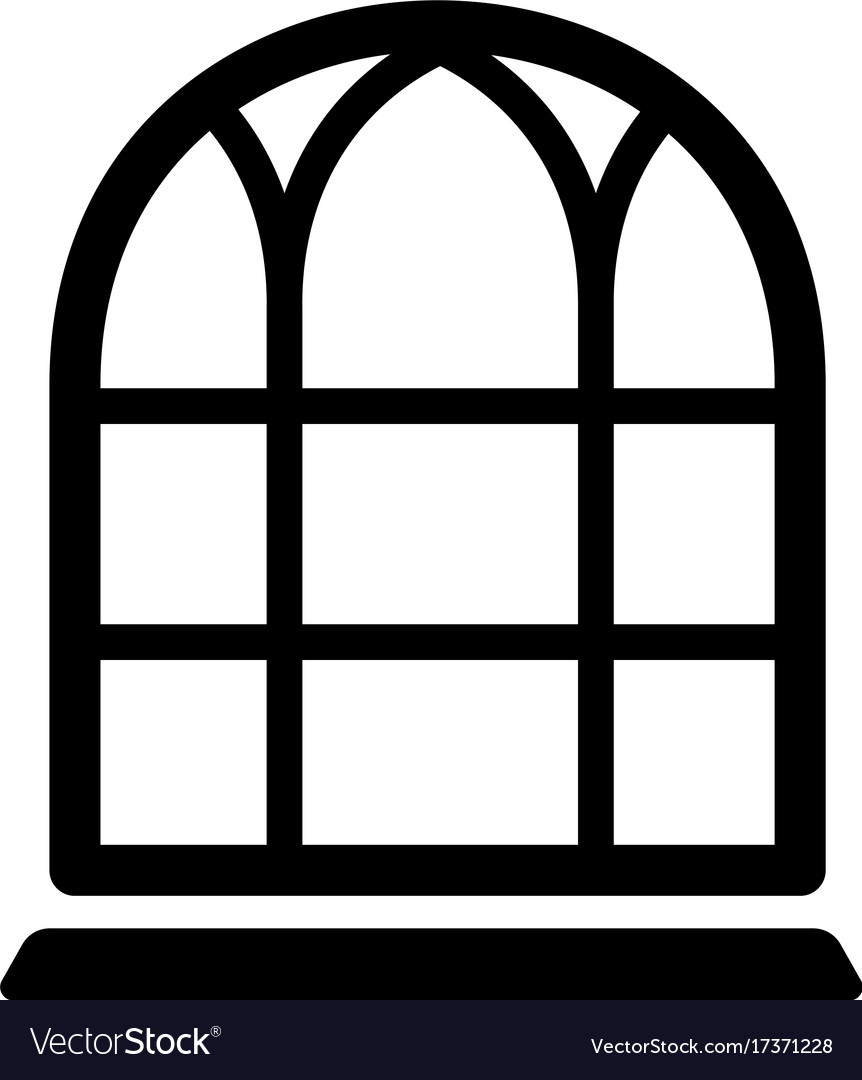 Big window frame icon simple black style Vector Image