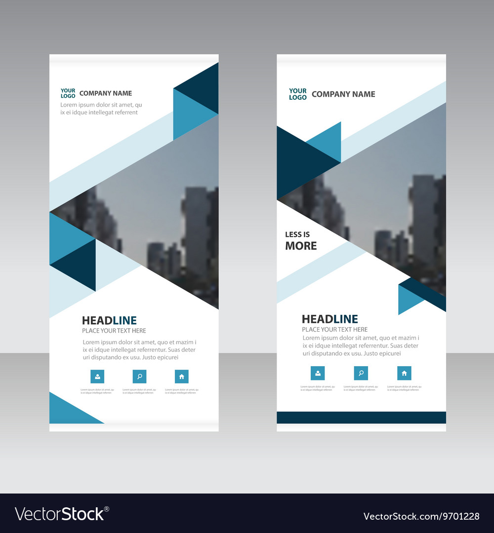 Blue triangle abstract corporate business banner