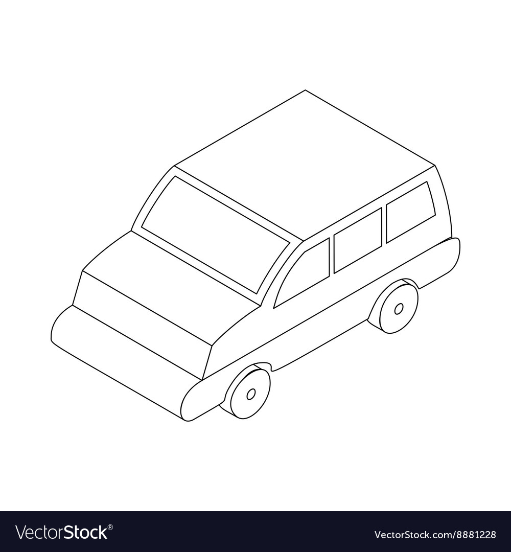 Car icon isometric 3d style