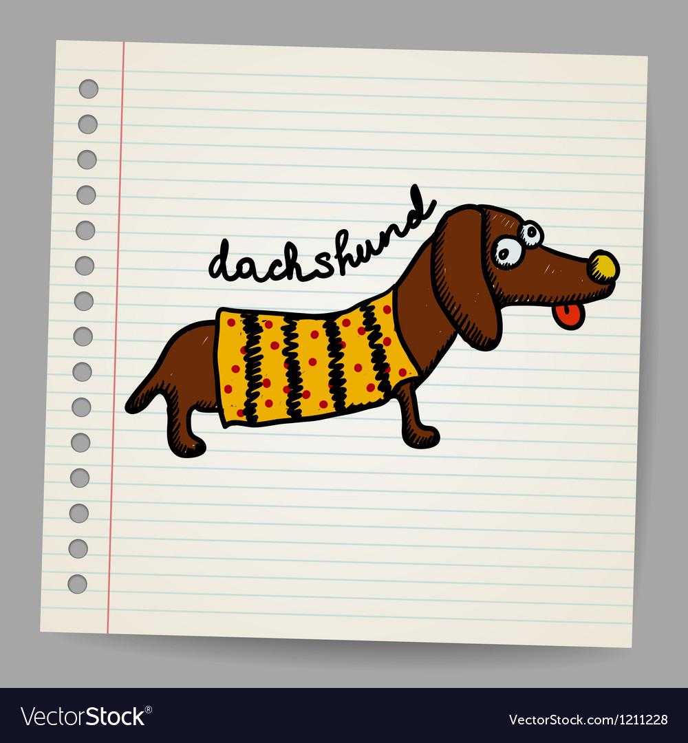 Cartoon dachshund vector image