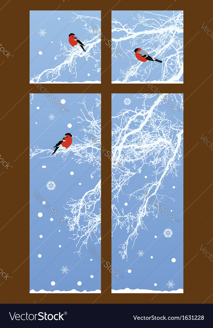 New Year with bullfinches