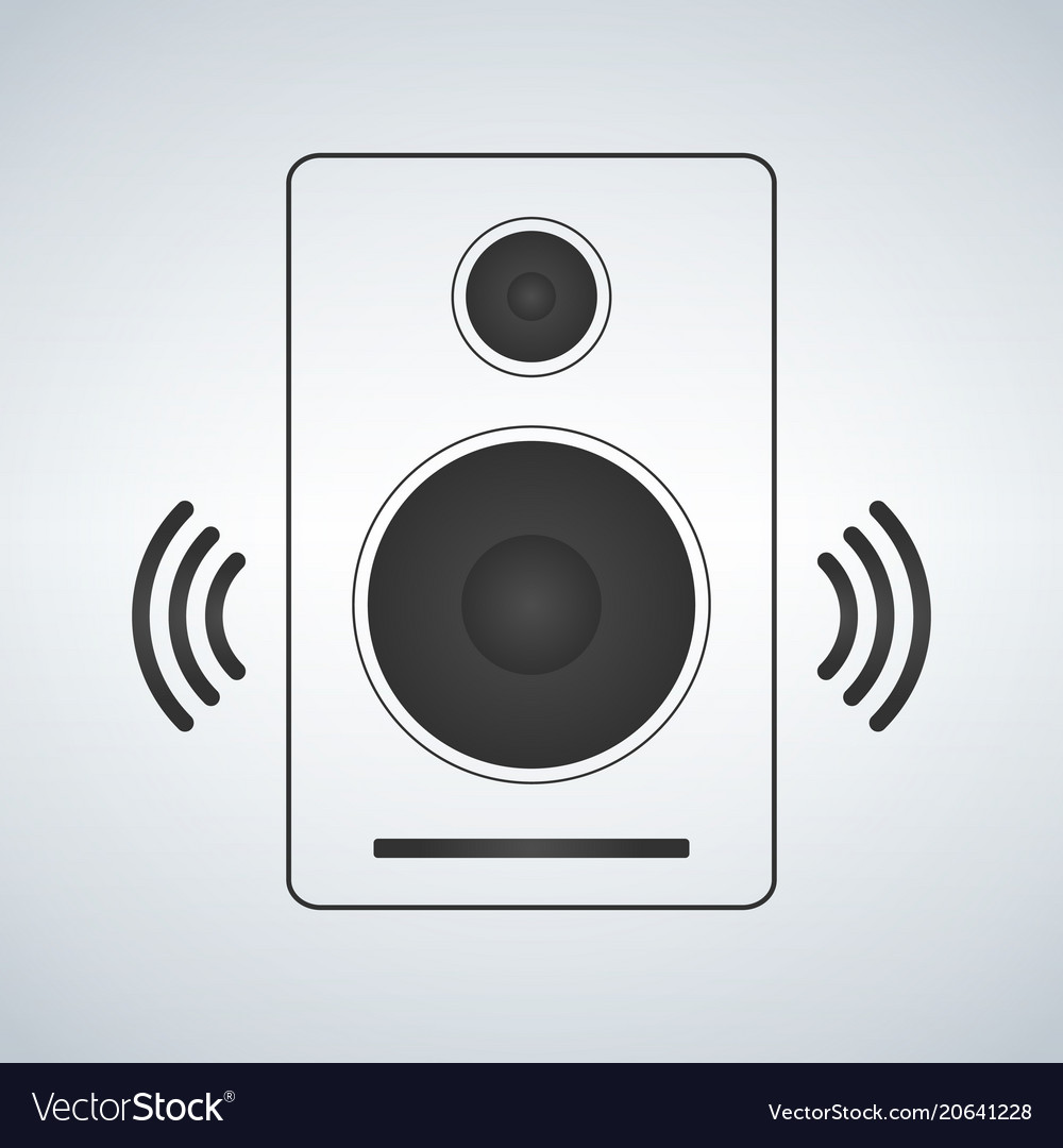 Portable music speacker icon in simple style
