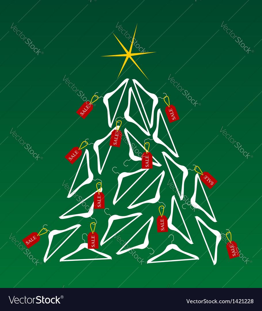 sales christmas tree vector image - Christmas Eve Sales