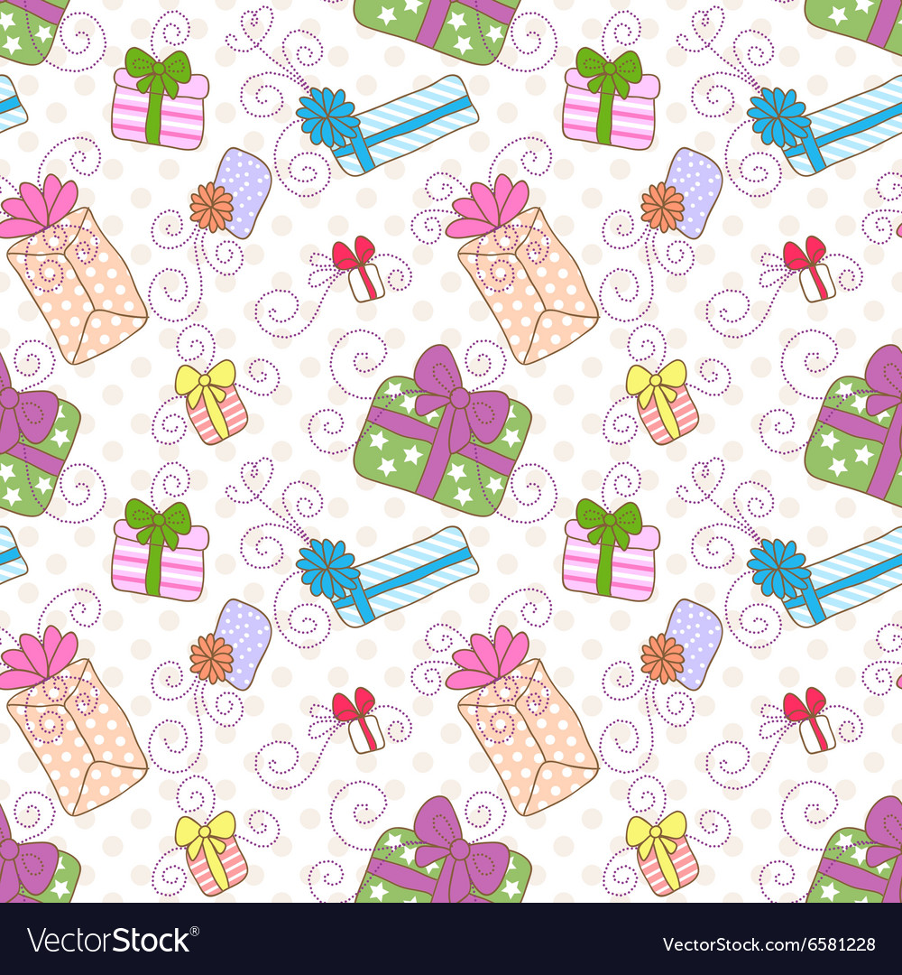 Seamless gift boxes pattern