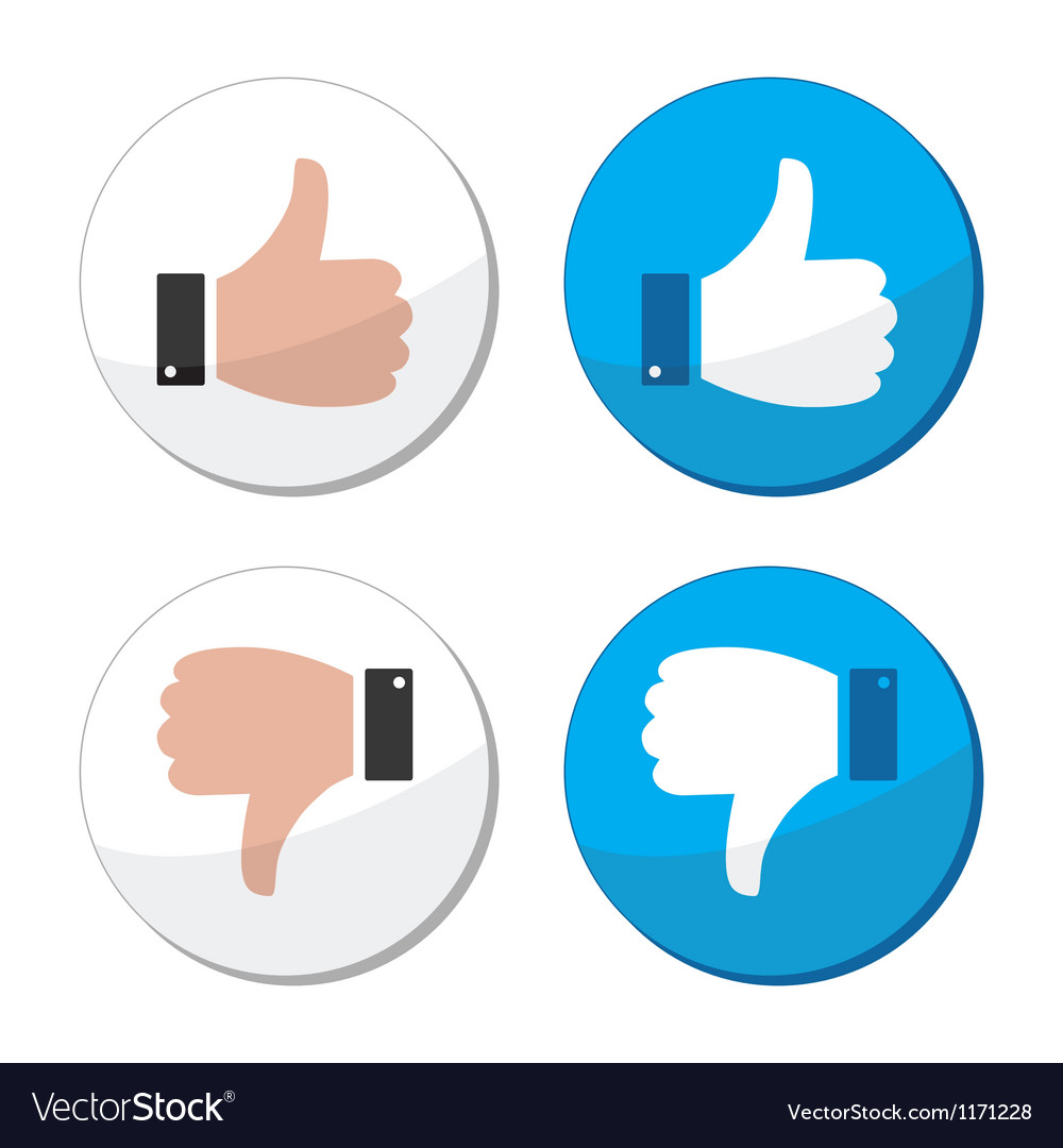 Thumb up and down like icon set