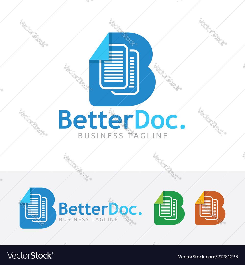Better document logo design
