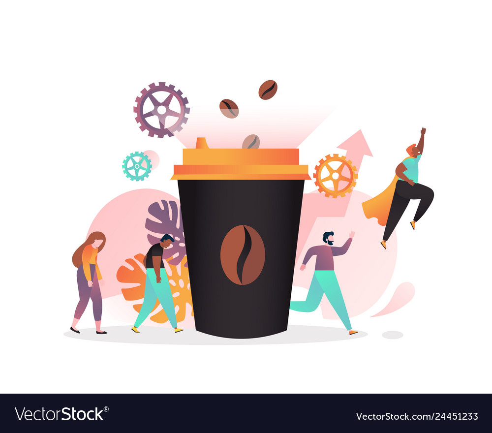 Coffee concept for web banner website page