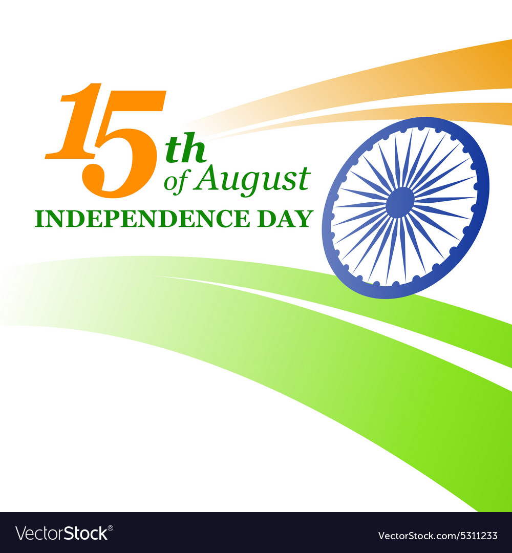 Creative indian independence day concept