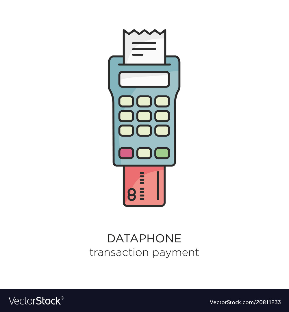 Dataphone transaction payment icon