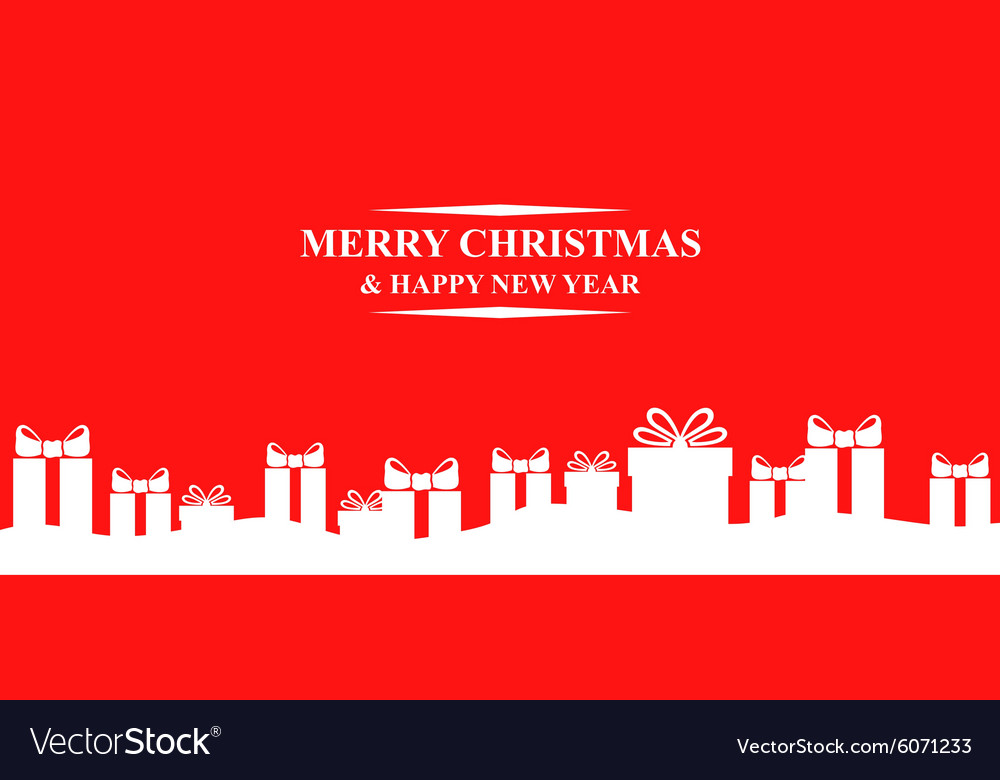 Gift back vector image