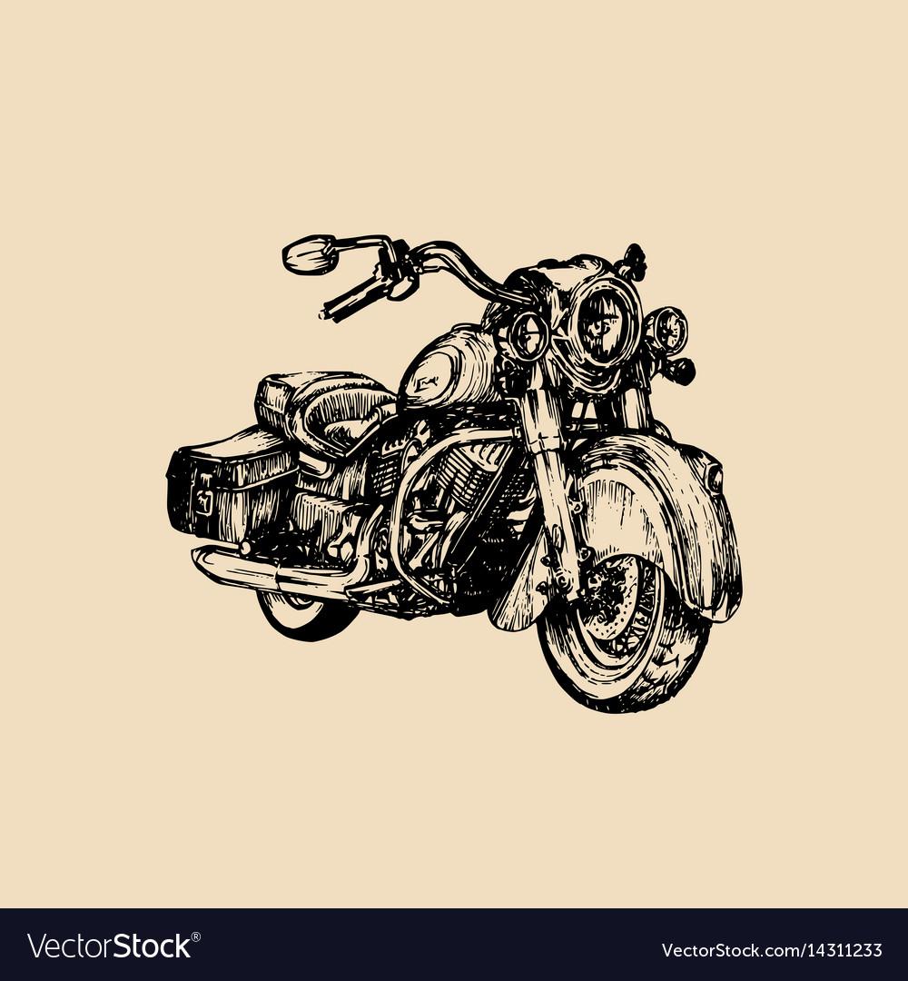 Hand drawn cruiser for mcbiker logolabel