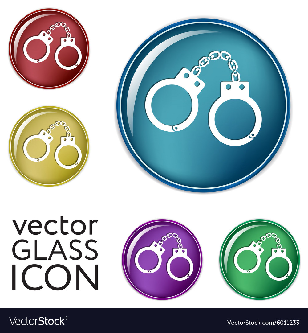 Handcuffs Symbol Of Justice Police Icon Royalty Free Vector