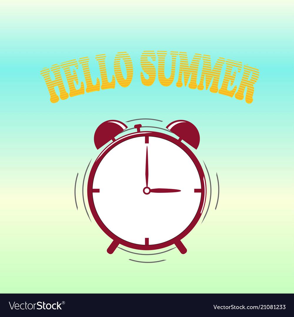 Hello summer alarm time to enjoyed yourself crea