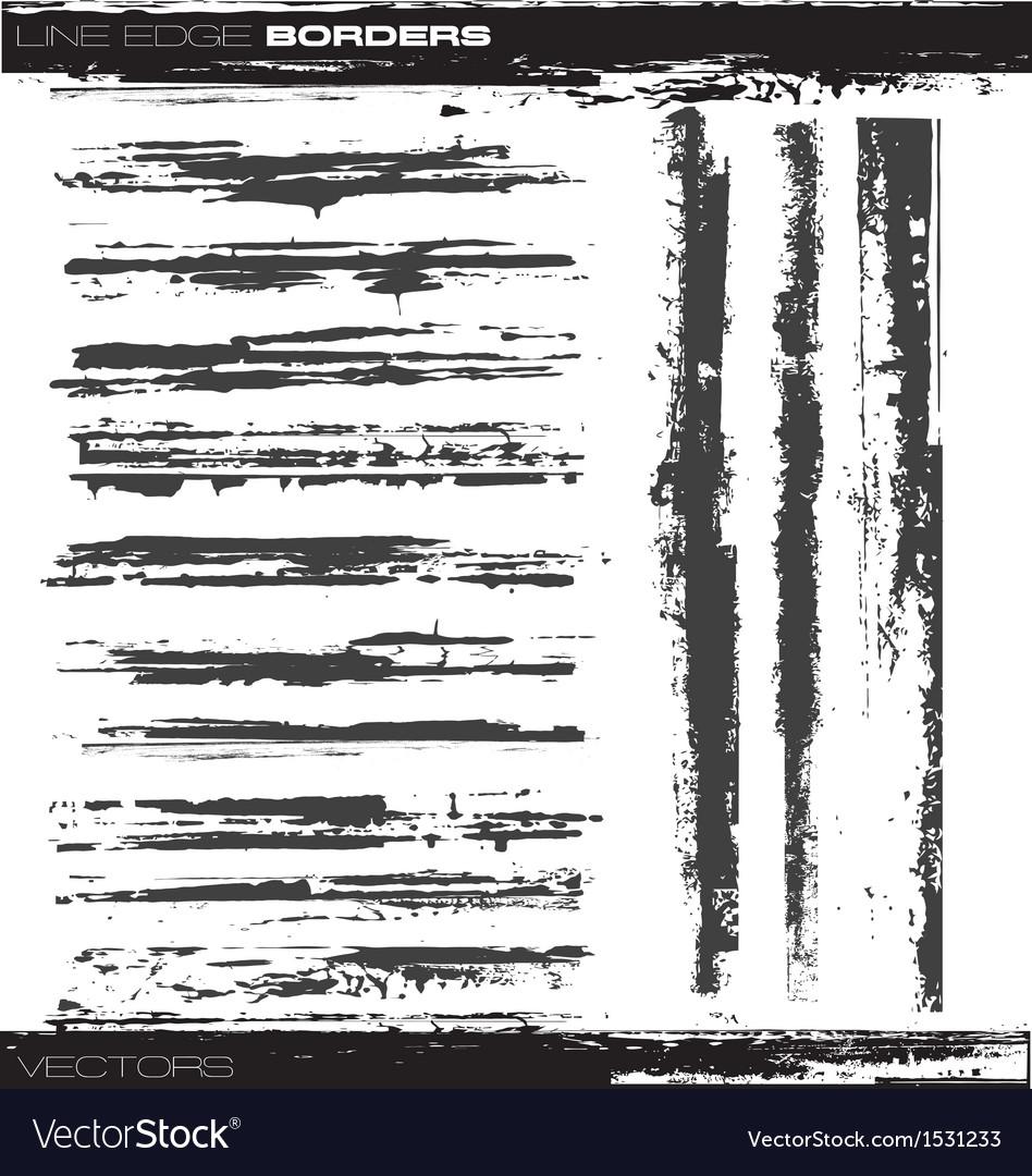 Line edge borders vector image