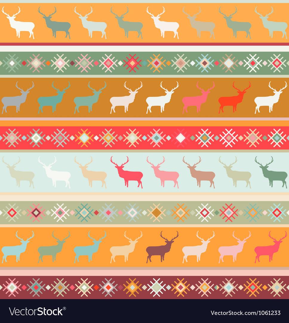 Norwegian Christmas pattern Royalty Free Vector Image