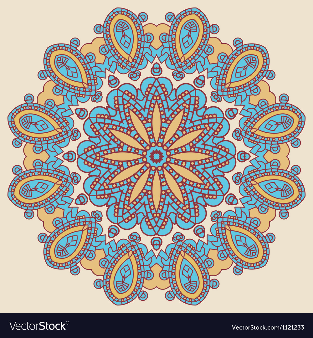 Round decorative design element vector image