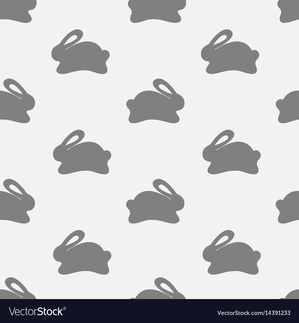 Seamless bunny pattern on white background