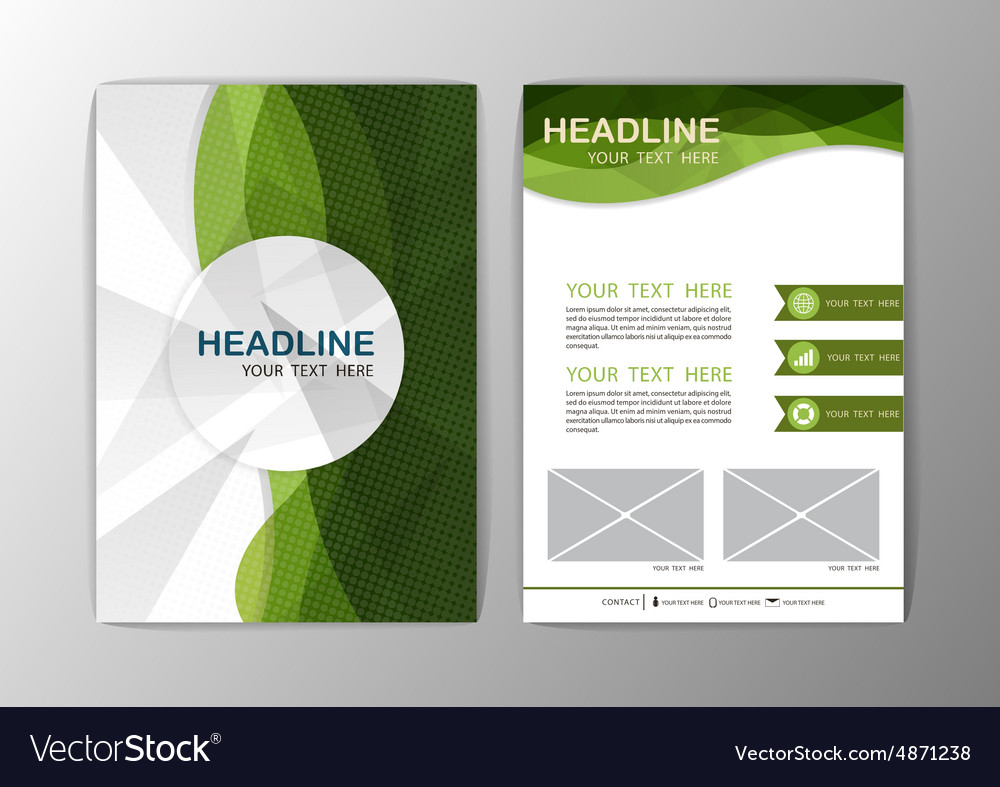 Abstract Brochure Template Business wave corporate