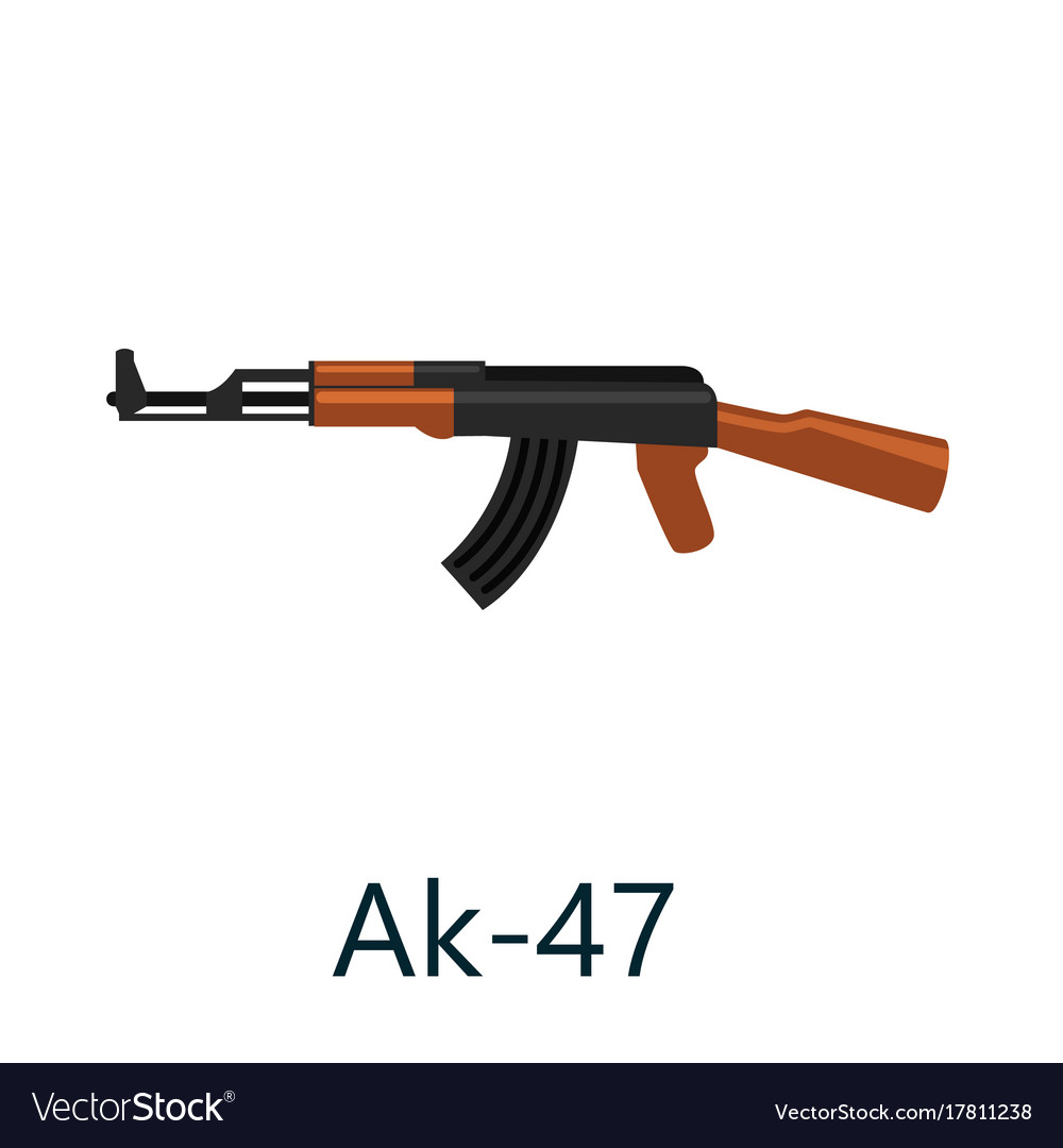 Assault automatic black rifle ak47 military gun