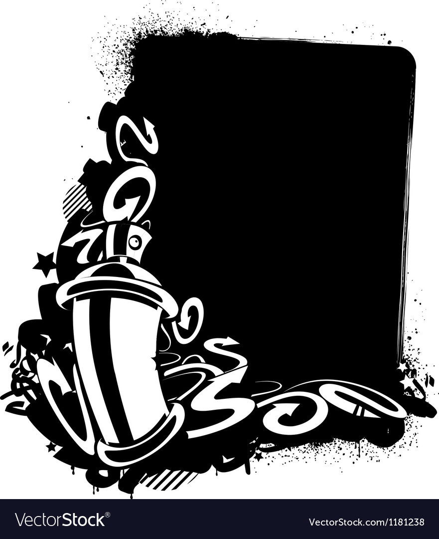 graffiti image of can with arrows royalty free vector image