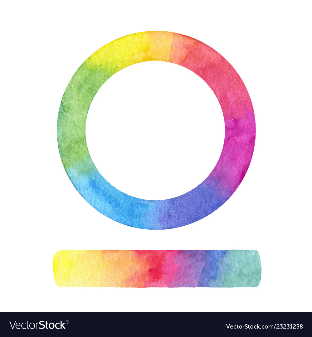 Hand painted color wheel and gradient stroke