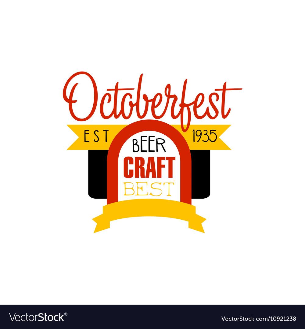 Oktoberfest Logo Design Template vector image