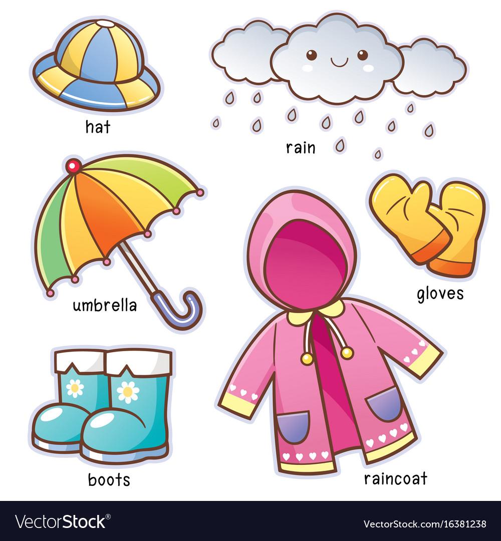 rain clothes royalty free vector image vectorstock