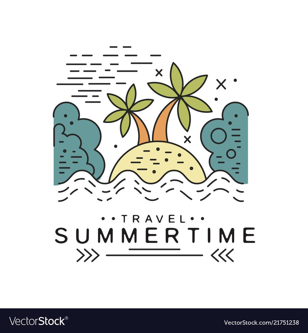Travel summertime logo design summer vacation