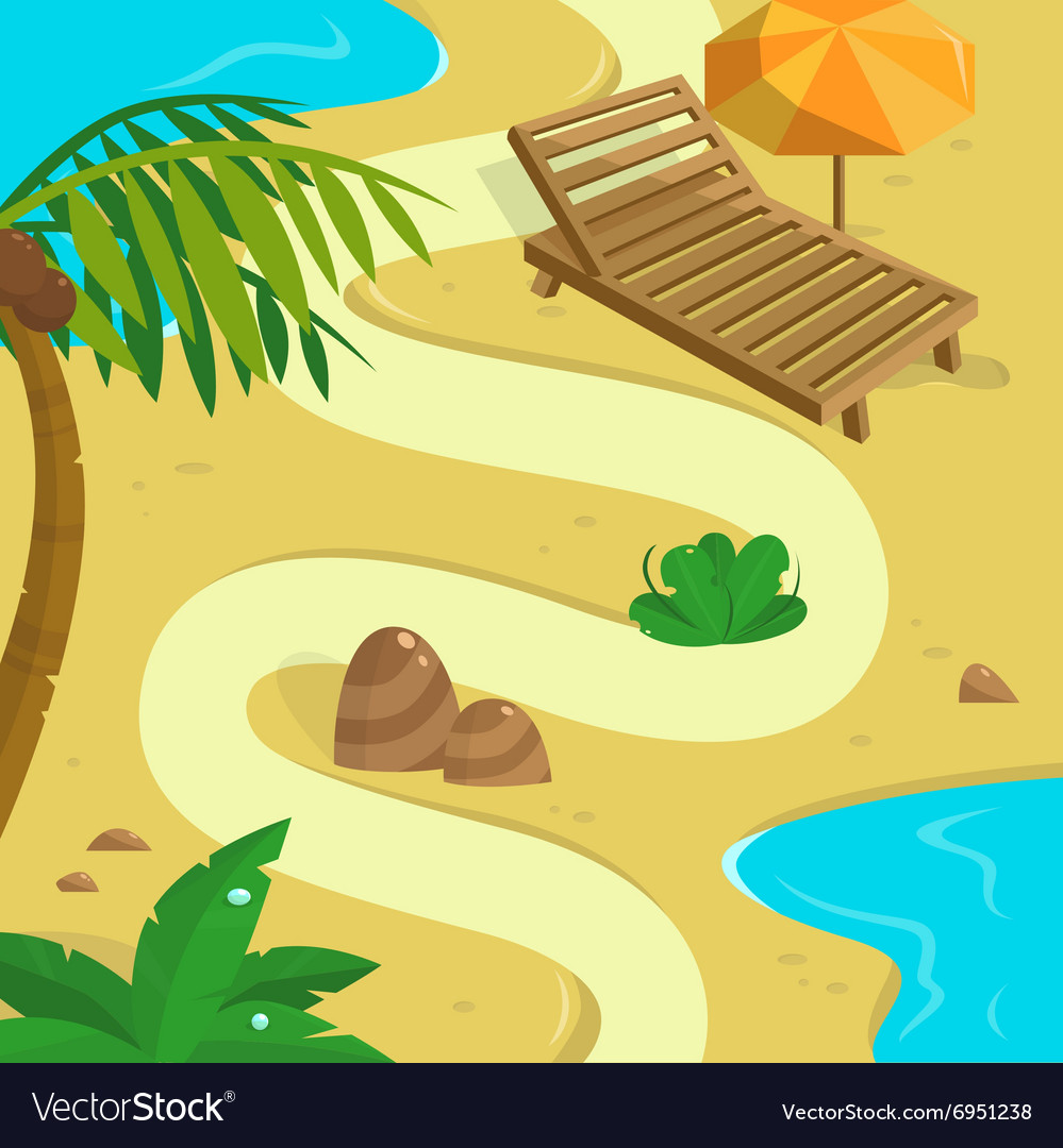Tropical island background template for your