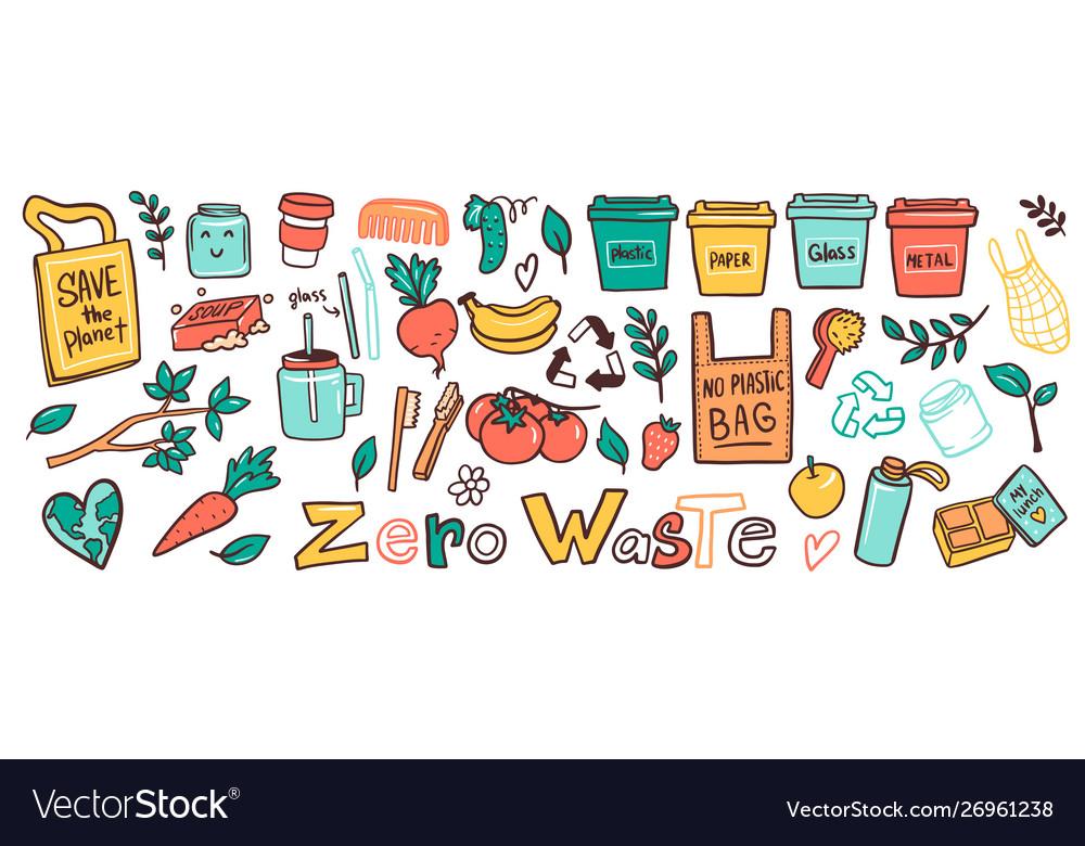 Zero waste lifestyle flat set