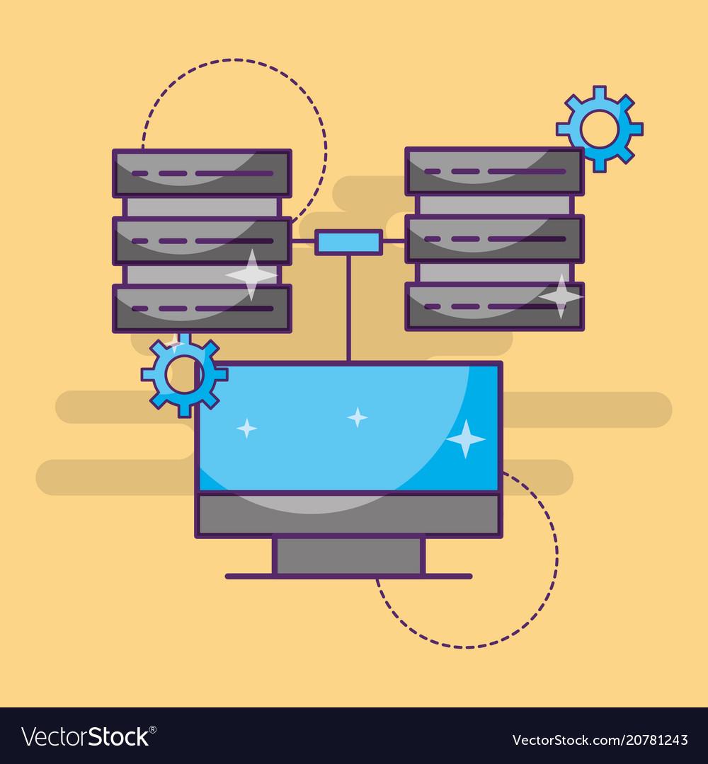 Computer data server center setting technology