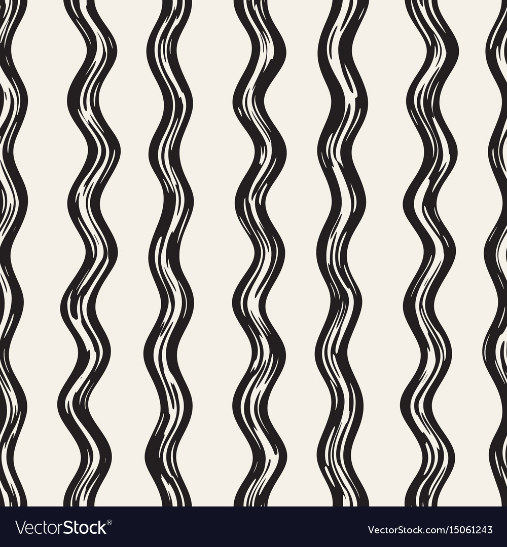 Decorative seamless pattern with doodle lines