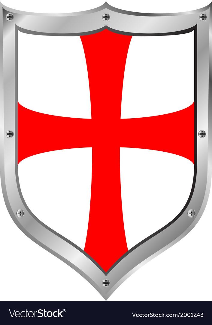 Knights Templar Shield Royalty Free Vector Image