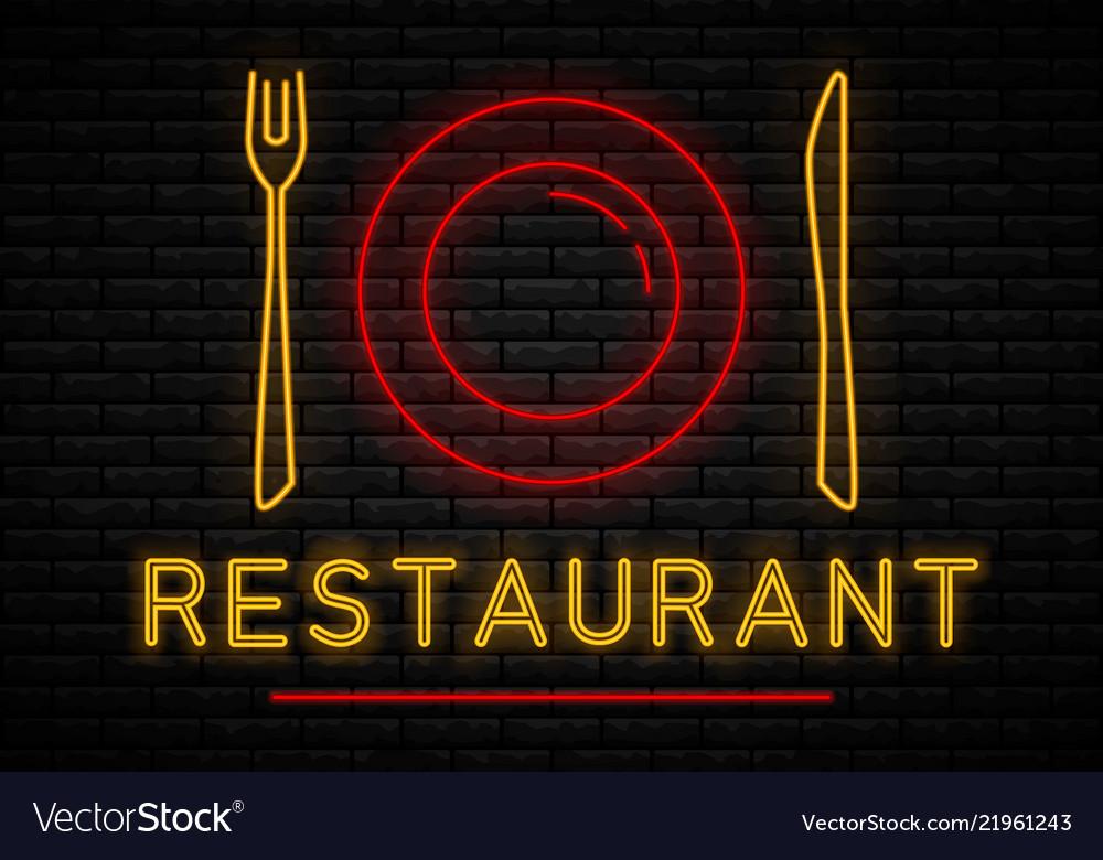 Neon restaurant sign