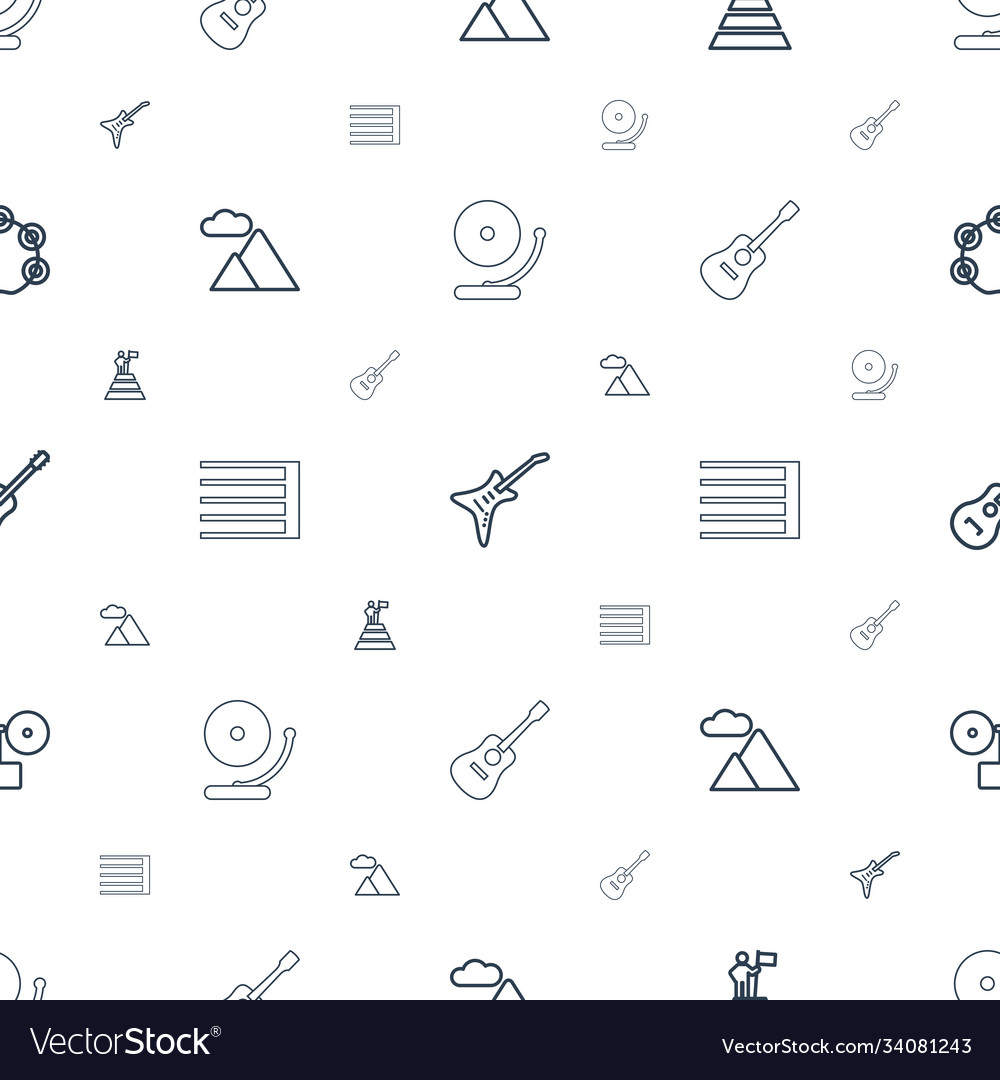 Rock icons pattern seamless white background