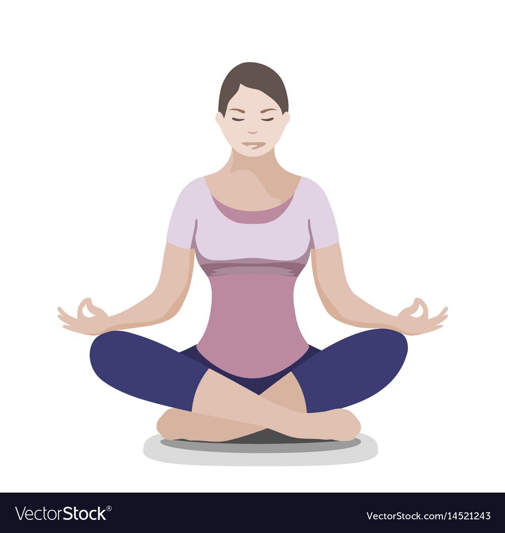 Silhouette Of Yoga Woman Padmasana