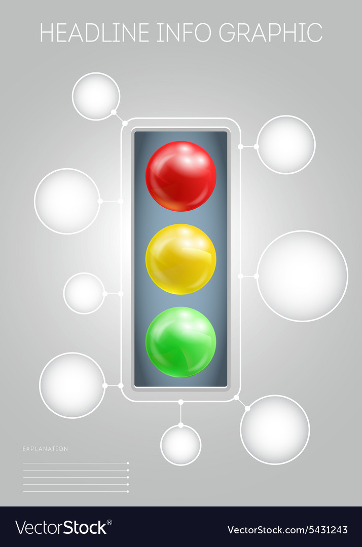 template with 3d effect red yellow green metaballs