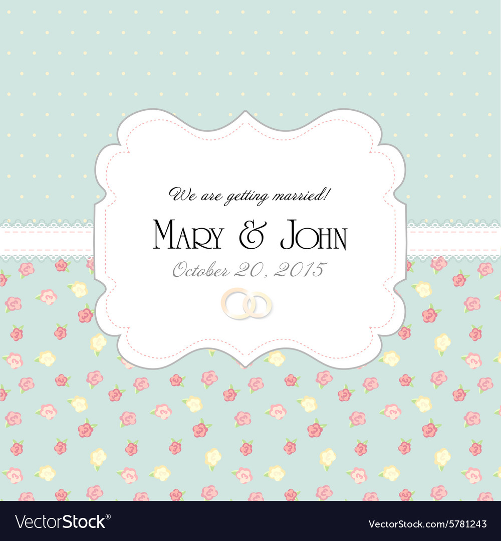 Wedding invitation card with abstract floral