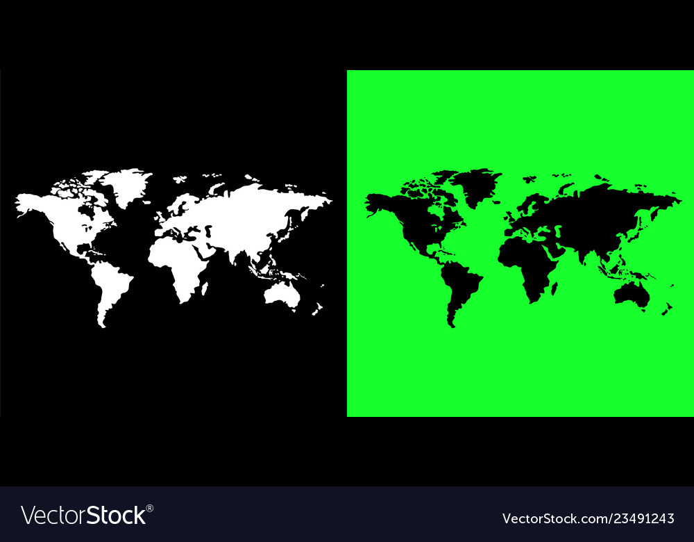 World map free hand style free from map