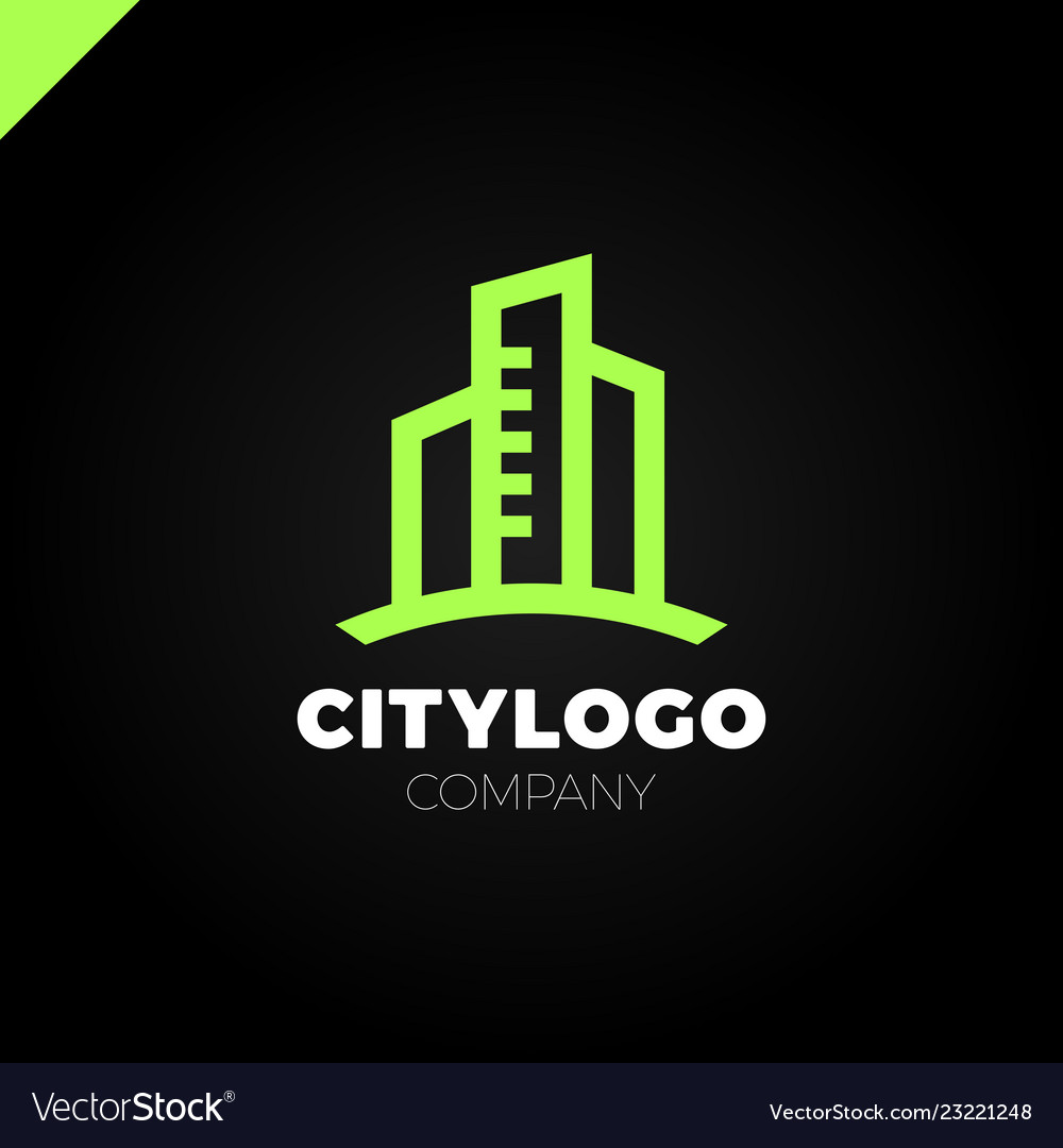 Abstract city building logo design concept symbol